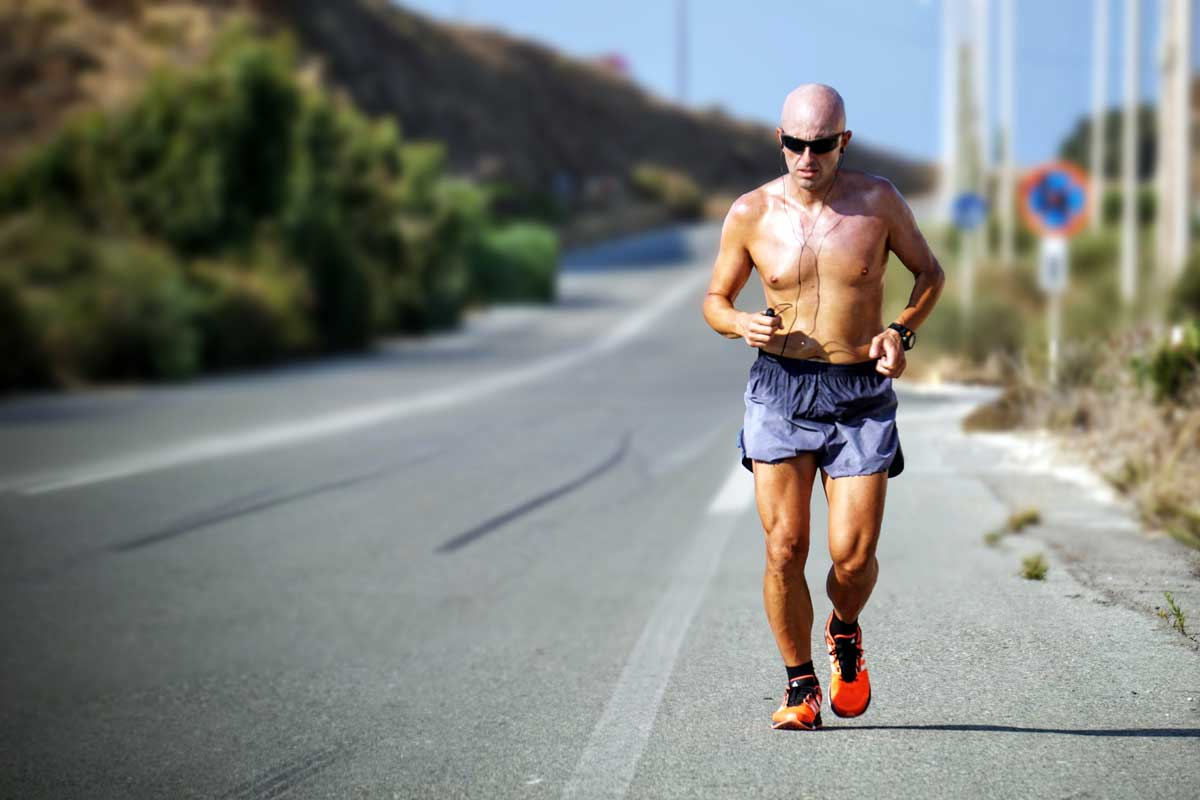 Man in running shoes